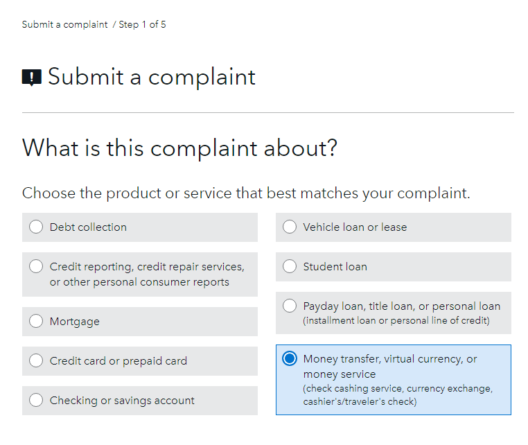 complaint against a cryptocurrency exchange company and bitcoin businesses